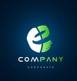 Alphabet letter E logo icon design vector image