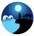 Arctic Night Scene vector image