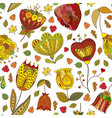 autumn doodles seamless pattern vector image vector image