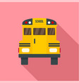 back of old school bus icon flat style vector image vector image