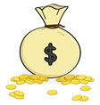 bag money vector image vector image