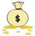 bag of money vector image vector image