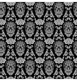 black seamless pattern skull vector image vector image