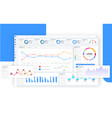 blue dashboard great design for any site purposes vector image vector image