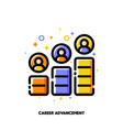 career advancement icon for corporate management vector image