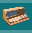 computer technology retro display vector image