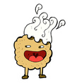 cookie comic cartoon character vector image vector image