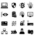 cyber security data protection hacker and vector image vector image