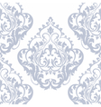 Damask pattern ornament in serenity blue color vector image