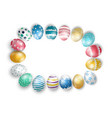 easter eggs on isolated background vector image vector image