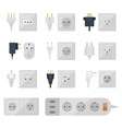 Electrical outlets plugs vector image vector image
