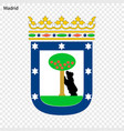 emblem of madrid city of spain vector image vector image