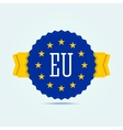 European union badge vector image vector image