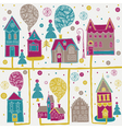 flat neighborhood drawing vector image vector image