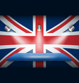 great britain flag and platform vector image