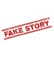 grunge textured fake story stamp seal vector image