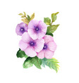 hand drawn flowers isolated on white background vector image vector image