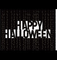 happy halloween greeting card negative space vector image vector image