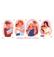 happy mothers day concept with cute family people vector image vector image