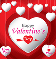 Happy Valantines Day vector image vector image