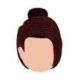 head woman isolated icon design vector image