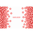 hearts red flat icons border isolated on white vector image vector image