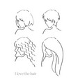 i love the hair vector image vector image