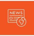 International newspaper line icon vector image vector image