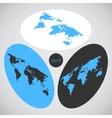 Isometric world map