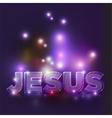 Jesus Text vector image vector image