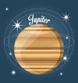 jupiter planet in the solar system creation vector image