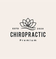 lotus leaf chiropractic hipster vintage logo icon vector image