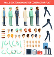 male doctor character constructor flat vector image