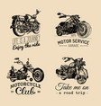 motorcycles inspirationaladvertising vector image vector image