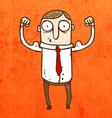 Muscly Man Cartoon vector image