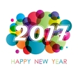 new year background with circles vector image vector image