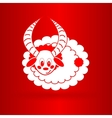 nice sheep icon vector image