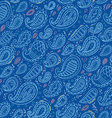 Paisley pattern on blue background vector image vector image