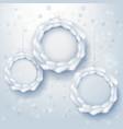 paper art xmas wreaths vector image vector image