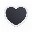 photo frame heart vector image