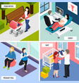 pregnancy isometric design concept vector image