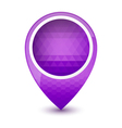 Purple round 3D map pointer vector image vector image