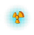 Radioactive sign icon comics style vector image vector image