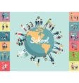 school education in world concept vector image