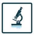 school microscope icon vector image vector image