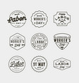 set labor day badges international workers day vector image vector image