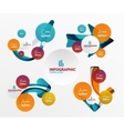 Set of abstract step infographics vector image vector image