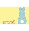 Single boy rabbit wording vector image