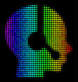 spectral colored dot operator icon vector image vector image
