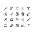 spray black icons hand with disinfectant vector image